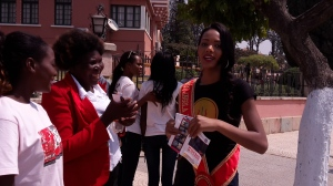 Miss Angola 2015 Whitney Huston Shikongo. Bruno Space Painel de Debates