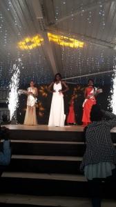 Da esquerda para direita: Yara Gouveia 2ª Dama, Domingas Malaquias Miss Lubango 2016 e Leila Bunga 1º Dama